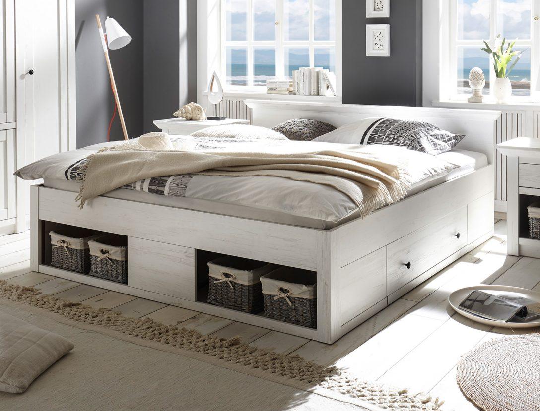 Large Size of Bett Doppelbett Westerland 180x200cm Mit Bettschubladen Pinie Wei Betten Für übergewichtige Selber Bauen 180x200 Ausziehbett Bettkasten Jugendstil 1 40 Bett Bett Mit Schubladen Weiß