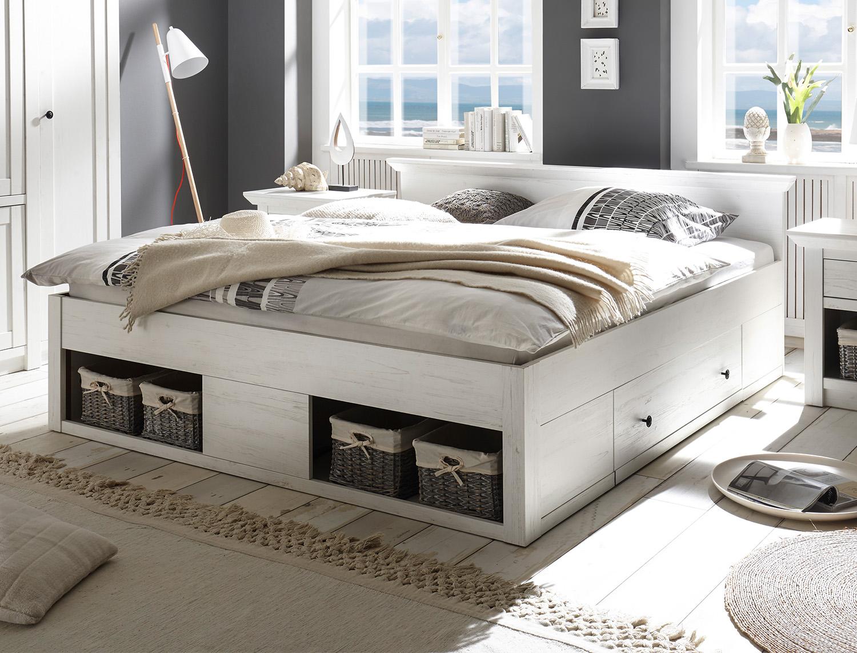 Full Size of Bett Doppelbett Westerland 180x200cm Mit Bettschubladen Pinie Wei Betten Für übergewichtige Selber Bauen 180x200 Ausziehbett Bettkasten Jugendstil 1 40 Bett Bett Mit Schubladen Weiß