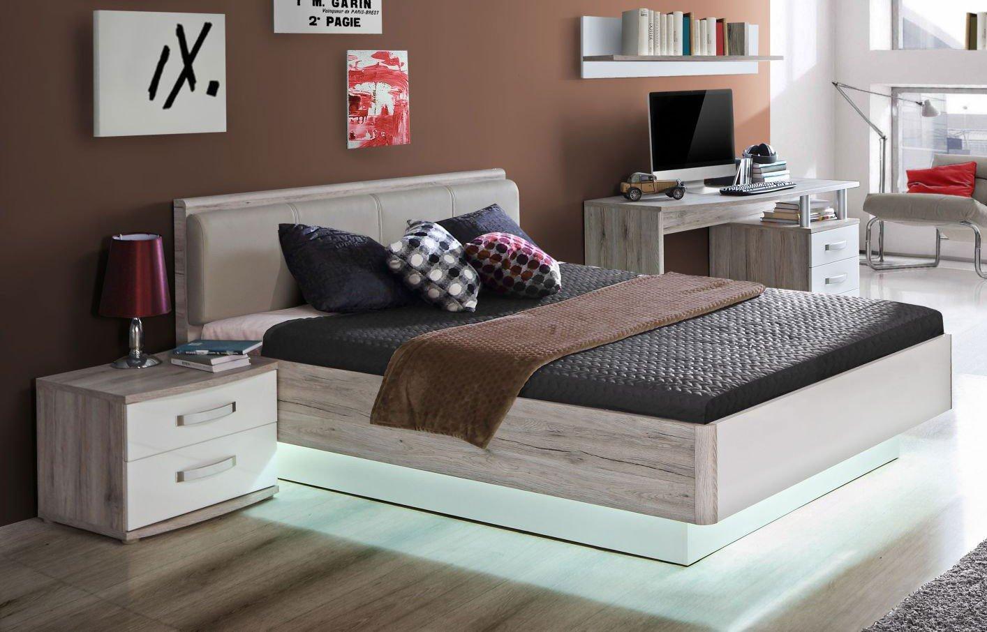 Full Size of Bett 140x200 Günstig Rondino 140 200 Cm Sandeiche Nachbildung Hochglanz Wei Küche Mit Elektrogeräten Japanische Betten 120 Schreibtisch Ausklappbares Futon Bett Bett 140x200 Günstig