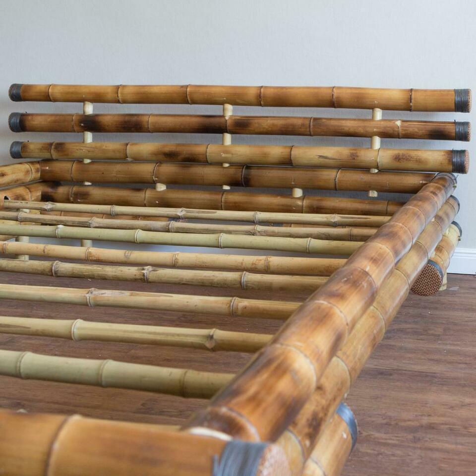 Full Size of Bambus Bett Bambusbett 180 200 Cm In Braun Vb 249 Mit Ausziehbett Feng Shui Ruf Designer Betten Massivholz Bettkasten 140x200 90x200 Weiß 80x200 Balken Bett Bambus Bett