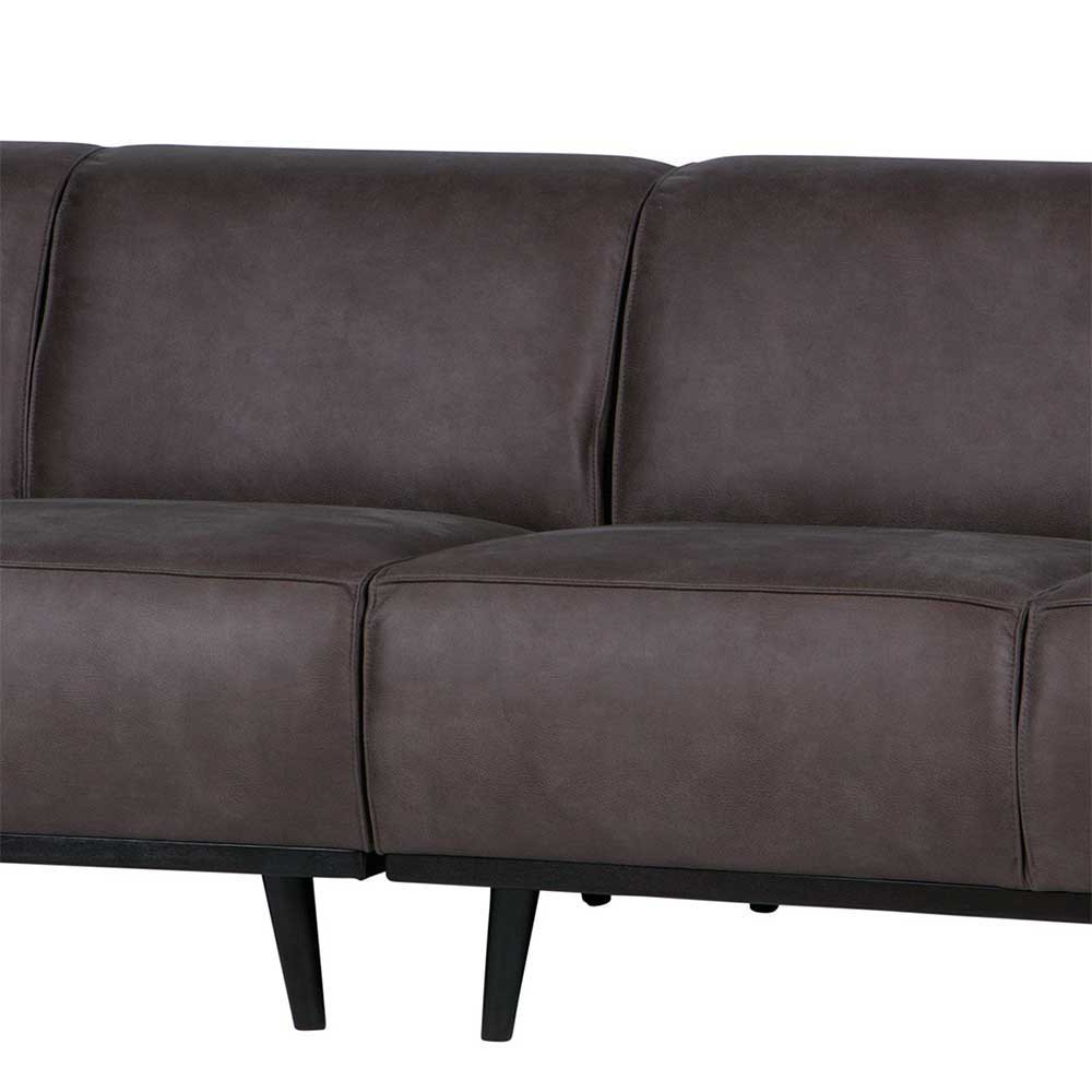 Full Size of Retro Couch Widama In Dunkelgrau Aus Recyclingleder 280 Cm Breit Big Sofa L Form Hülsta Boxspring Brühl Bett Breite Sitzsack Neu Beziehen Lassen Matratzen Sofa Sofa Breit