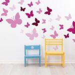 Wandaufkleber Kinderzimmer Kinderzimmer Wandaufkleber Kinderzimmer Dekodino Wandtattoo Schmetterlinge Orchidee Real Regale Regal Weiß Sofa
