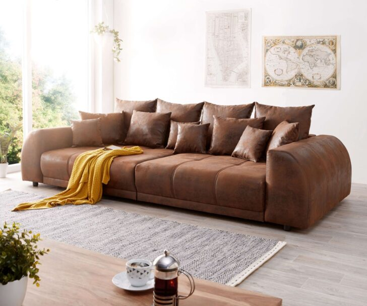 Medium Size of Big Sofa Violetta 310x135 Cm Braun Antik Optik Mit Kissen Mbel Bunt Konfigurator 3 Teilig Hay Mags U Form Kaufen 3er Türkis Polster Reinigen Bezug Sofa Big Sofa Braun