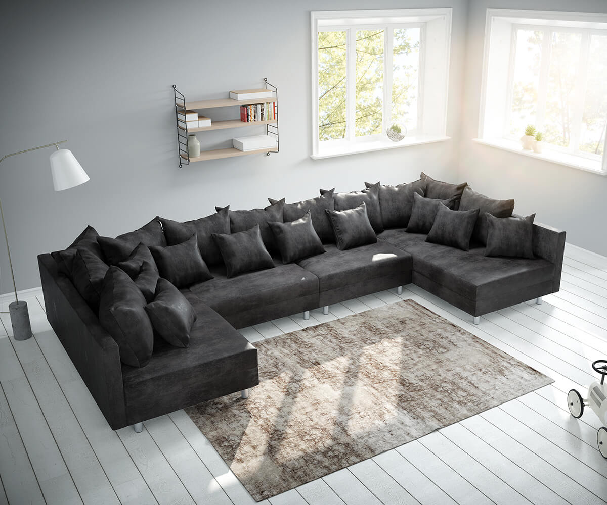 Full Size of Delife Couch Clovis Big Sofa Xl Noelia Big Sofa Violetta 310x135 Braun Antik Optik Hocker Bewertung Lanzo Erfahrung Xxl Silas Lounge Garten Freistil Ausziehbar Sofa Delife Sofa