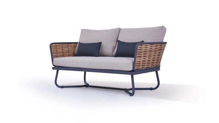Medium Size of Lounge Sofa Polyrattan Outdoor Couch Grau Gartensofa Ausziehbar Tchibo 2 Sitzer Balkon 2 Sitzer Set Rattan Garden Astra 145 Cm Living Zone Gartenmbel Mit Sofa Polyrattan Sofa