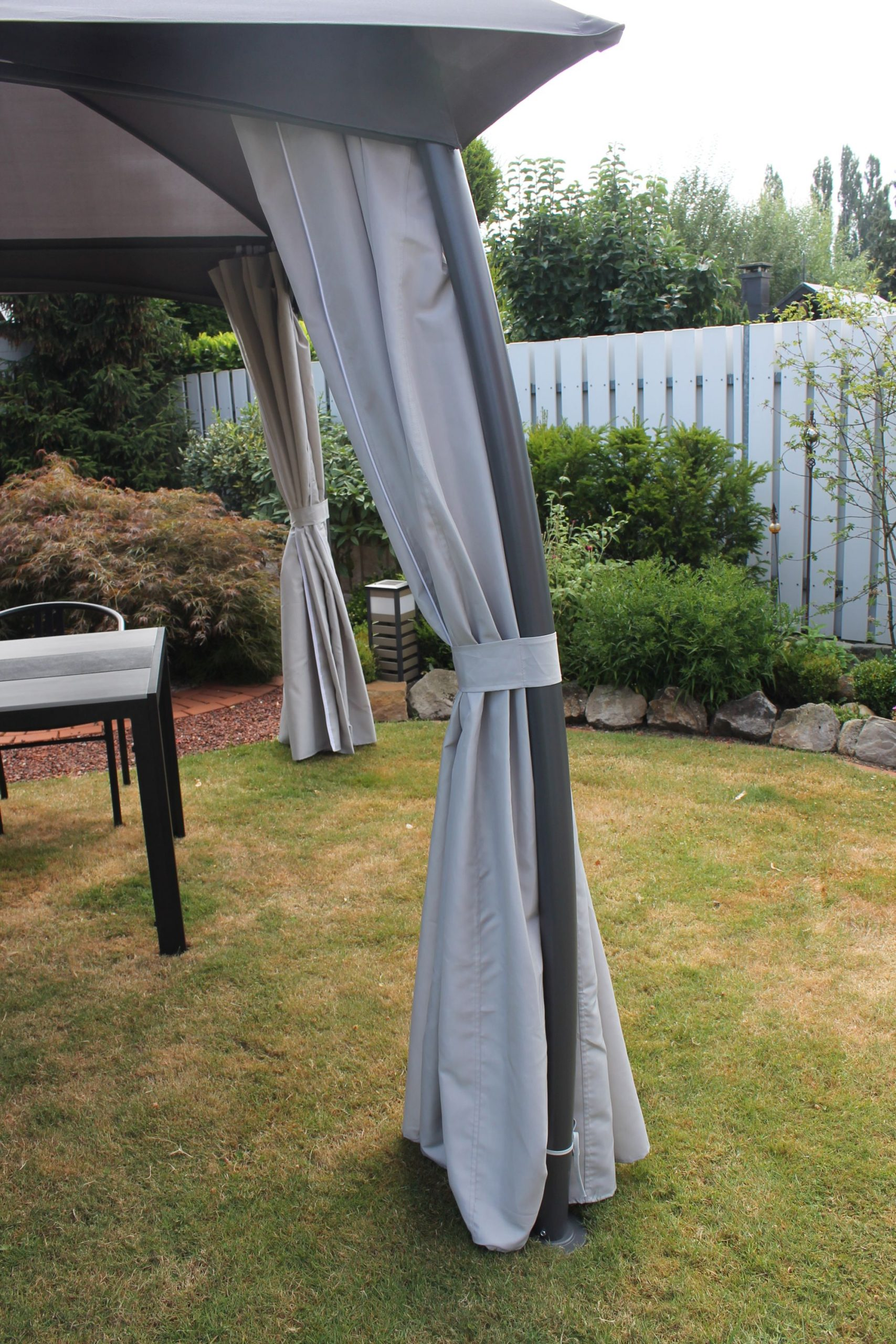Full Size of Gartenüberdachung Leco Pavillon Milena Dach Pergola Terrasse Garten Berdachung Garten Gartenüberdachung