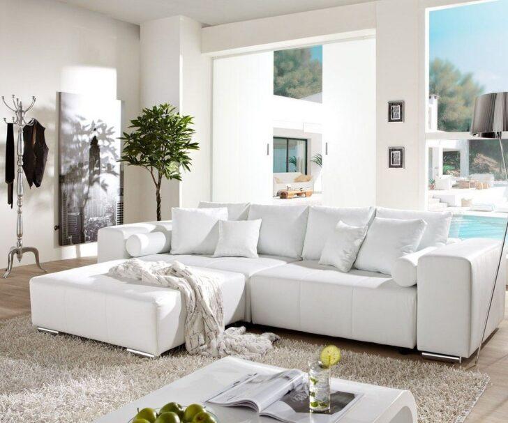 Medium Size of Big Sofa Marbeya 290x110 Cm Weiss Mit Schlaffunktion Mbel Sofas Luxus Baxter Boxen Günstige Kleines Wohnzimmer Bett Schubladen Weiß Chippendale Ikea Indomo Sofa Kunstleder Sofa Weiß