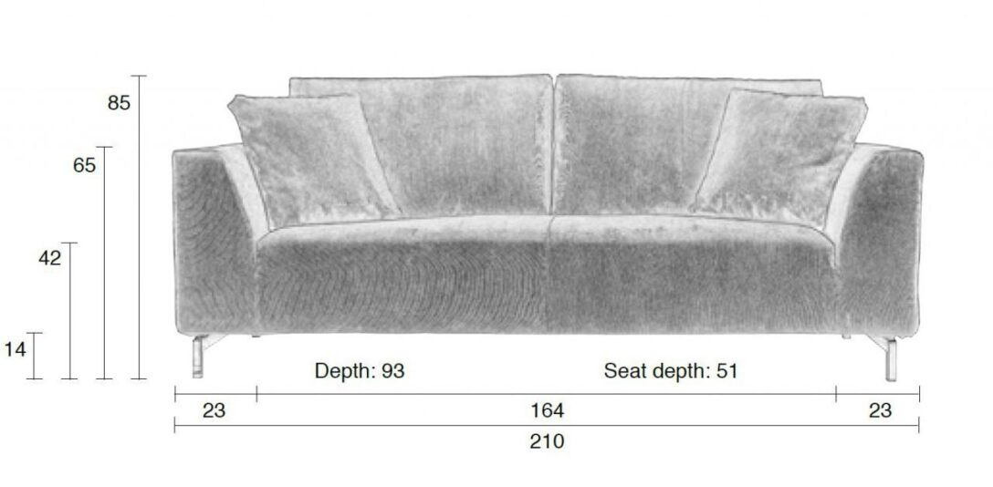 Large Size of Ikea Sofa 3 Sitzer Grau Leder Couch 2 Und Louisiana (3 Sitzer Mit Polster Grau) Rattan Samt Retro Kingsley 3 Sitzer Nino Schwarz/grau Dragon Rib In Von Zuiver Sofa Sofa 3 Sitzer Grau