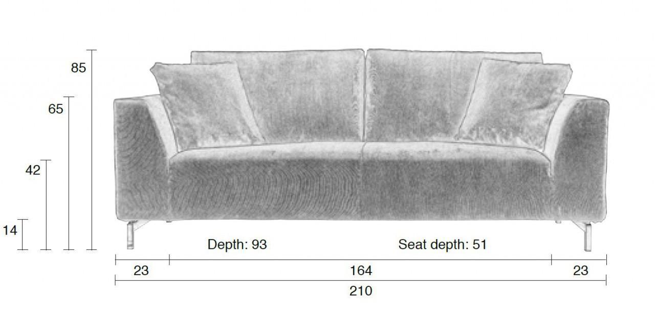 Full Size of Ikea Sofa 3 Sitzer Grau Leder Couch 2 Und Louisiana (3 Sitzer Mit Polster Grau) Rattan Samt Retro Kingsley 3 Sitzer Nino Schwarz/grau Dragon Rib In Von Zuiver Sofa Sofa 3 Sitzer Grau