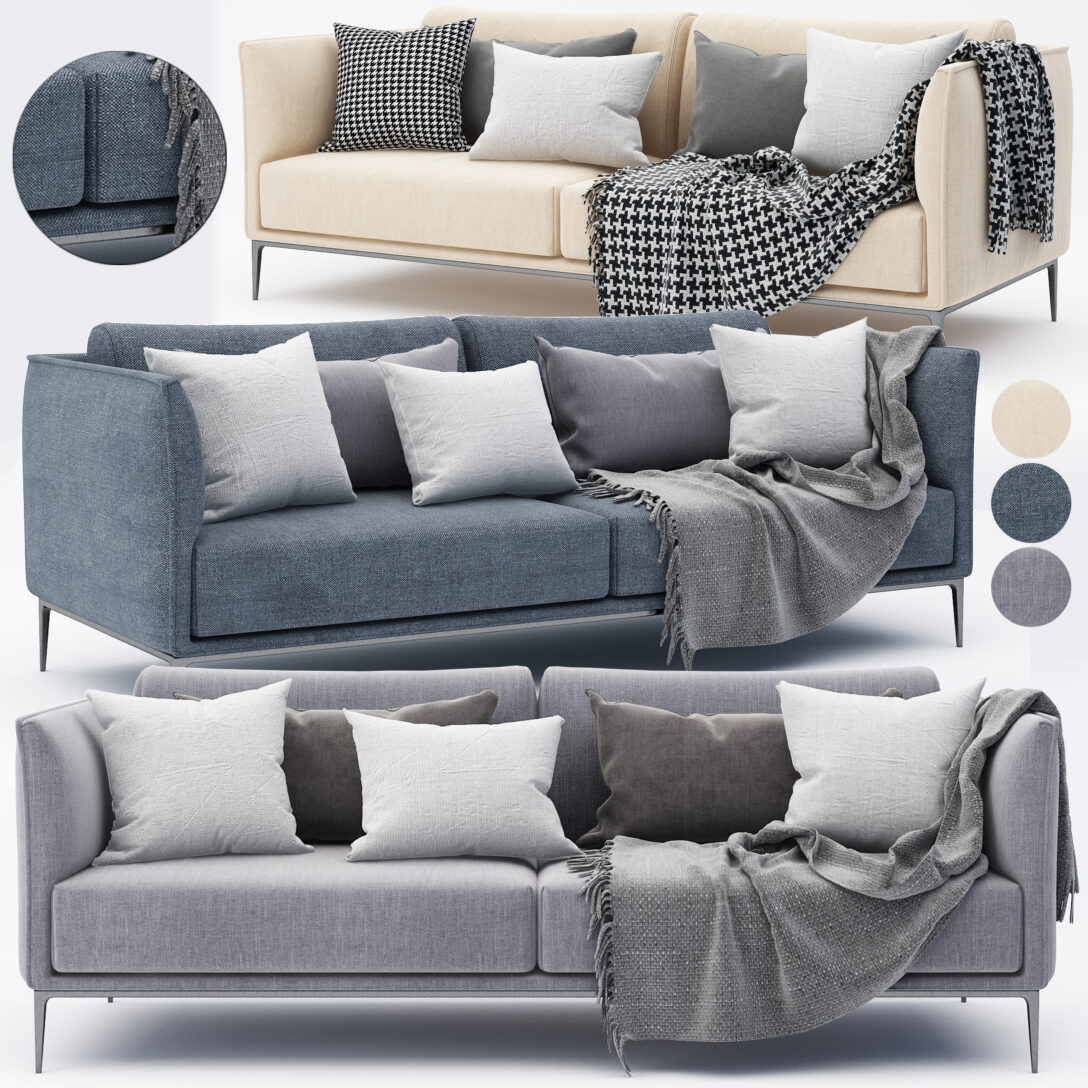 Large Size of Modernes Sofa 3d Modell Turbosquid 1493475 Boxspring Vitra Home Affaire Big Federkern Ewald Schillig Mit Schlaffunktion Halbrundes 2 Sitzer Rund Relaxfunktion Sofa Modernes Sofa