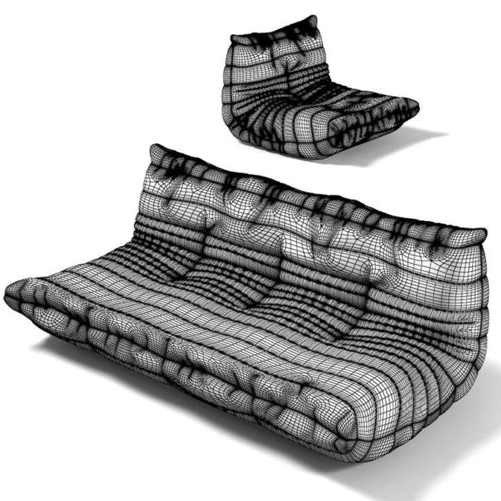 Medium Size of Togo Sofa Reproduction Uk Australia Leather For Sale Ligne Roset Ireland Melbourne Fireside Und Sessel 3d Modell 32 Fbx Mit Relaxfunktion Elektrisch Cassina Sofa Togo Sofa