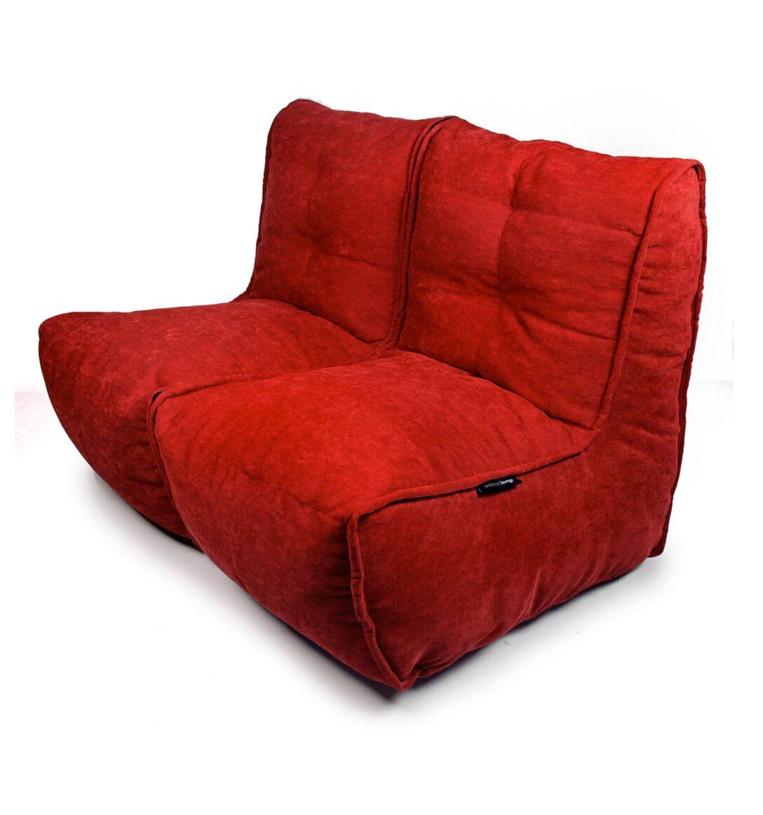 Large Size of Sitzsack Sofa Twin Wildberry Red Ambientyou Grau Stoff Esszimmer Großes U Form Kunstleder Big Günstig Halbrund Hussen Ohne Lehne Für Schilling Günstige Sofa Sitzsack Sofa
