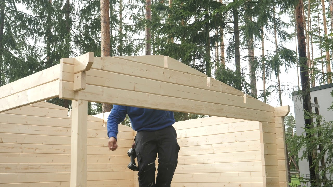Full Size of Garten Holzhaus Montage An Einem Tag Youtube Feuerschale Kandelaber Kinderspielturm Aufbewahrungsbox Kräutergarten Küche Beistelltisch Trampolin Tisch Garten Garten Holzhaus