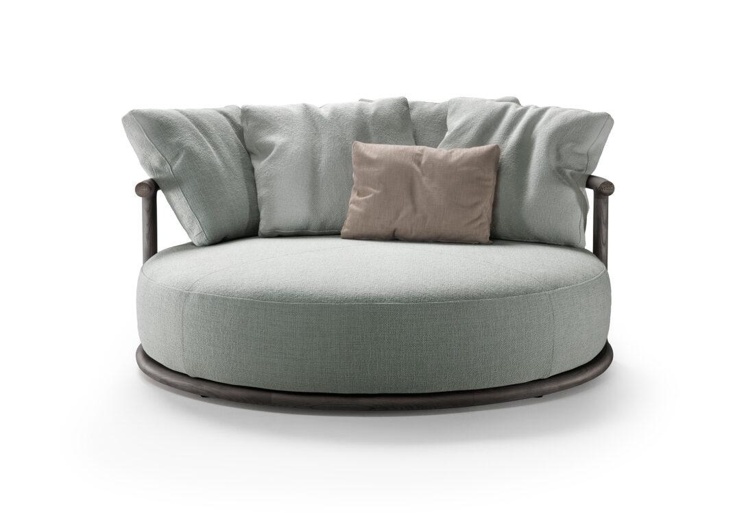Large Size of Sofa Rund Arundel Leather Couch Klein Oval Med Runde Former Form Dreamworks Bed Rundy Rundecke Design Chesterfield Leder Icaro Von Flexform Stylepark Sofa Sofa Rund