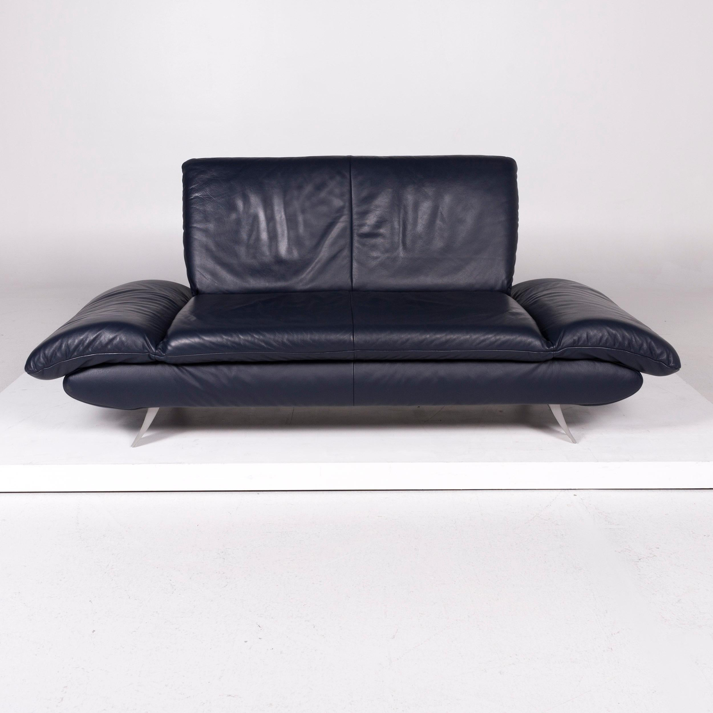 Full Size of Koinor Sofa Rossini Leather Blue Two Seat For Sale At 1stdibs Altes Kare Günstig Relaxfunktion Ottomane Cognac L Mit Schlaffunktion Rattan Zweisitzer Sofa Koinor Sofa