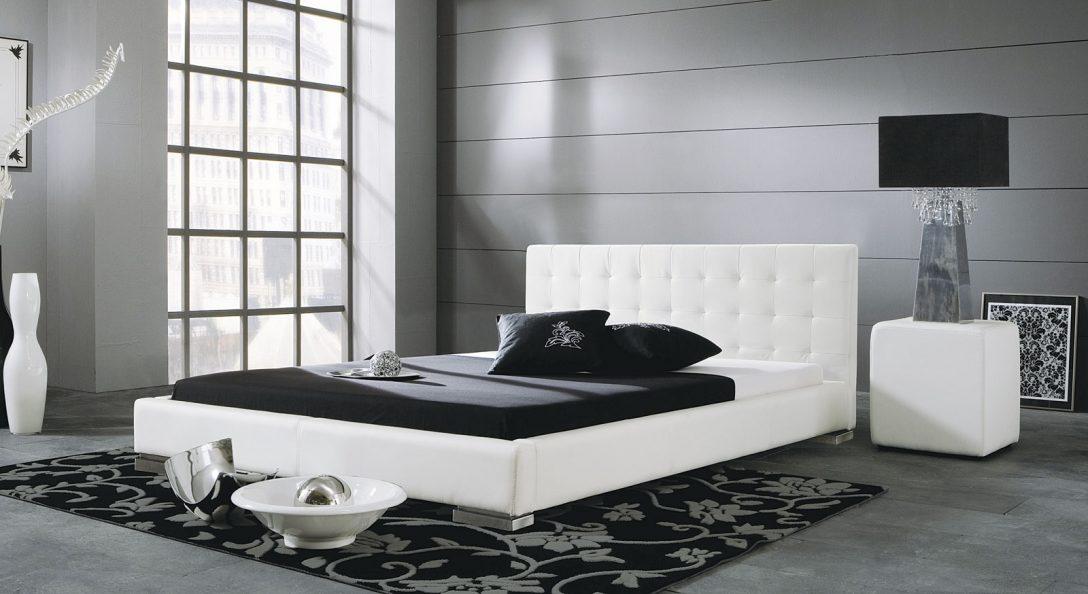 Large Size of Modernes Kunstlederbett In Wei Oder Schwarz Campo Bett 90x200 Weiß Tagesdecke Flach Badezimmer Hochschrank Hochglanz Bettwäsche Sprüche Betten Für Bett Bett Schwarz Weiß