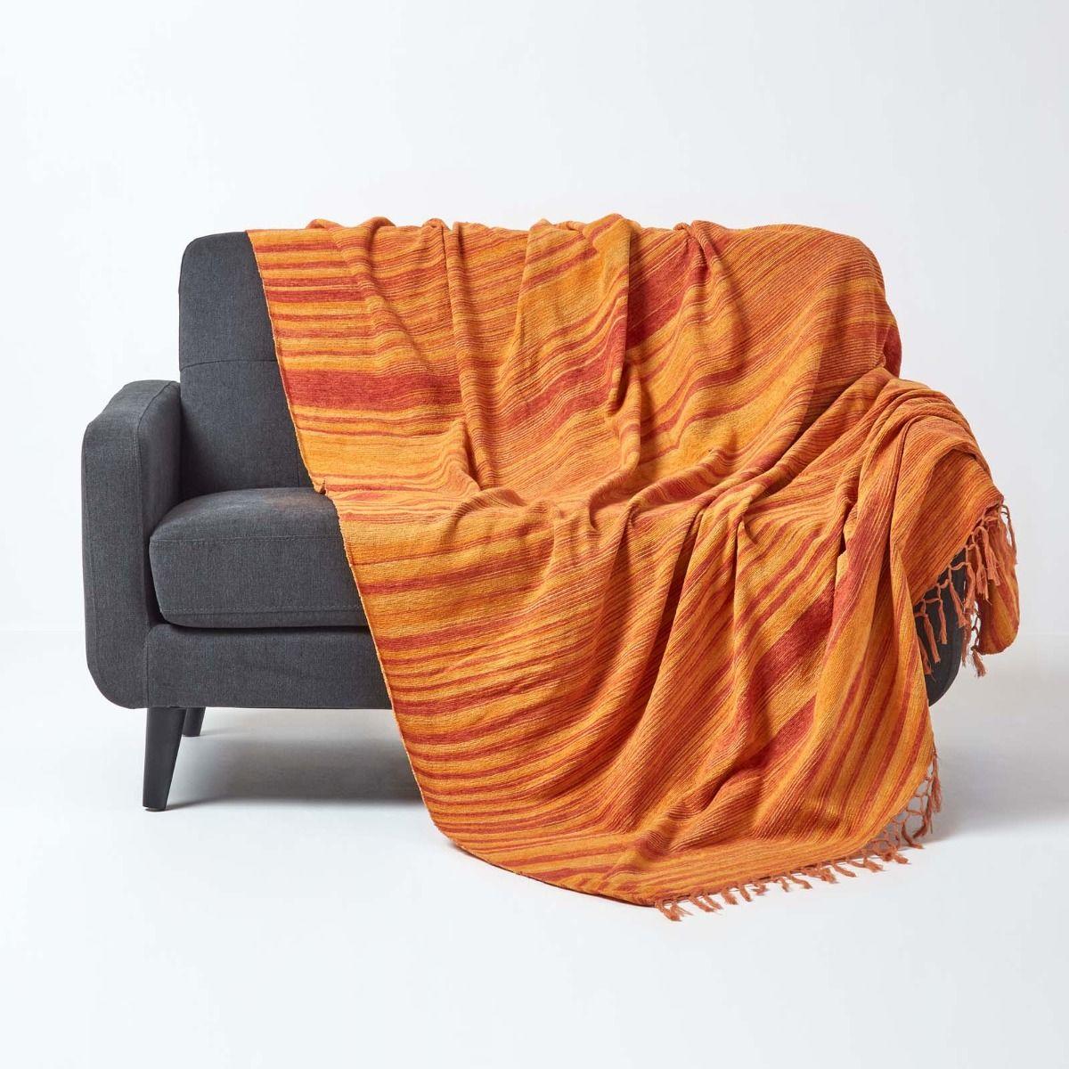 Full Size of überwurf Sofa Gestreifter Bett Berwurf Chenille Garngefrbt Orange Rotes Reinigen Aus Matratzen Esstisch Rolf Benz Heimkino Breit Schlaffunktion Big Mit U Form Sofa überwurf Sofa