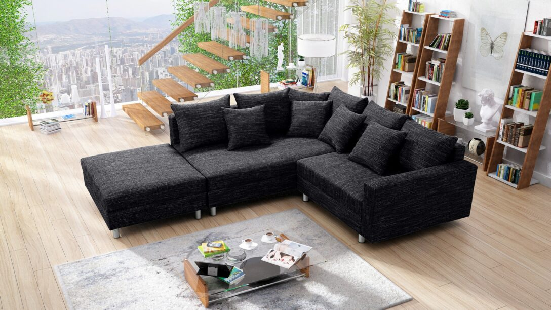 Large Size of Modernes Sofa Couch Ecksofa Eckcouch In Gewebestoff Schwarz Mit Liege Led Chesterfield Günstig Mondo U Form Xxl Kaufen Husse 3 Teilig Auf Raten Big Grau Sofa Modernes Sofa