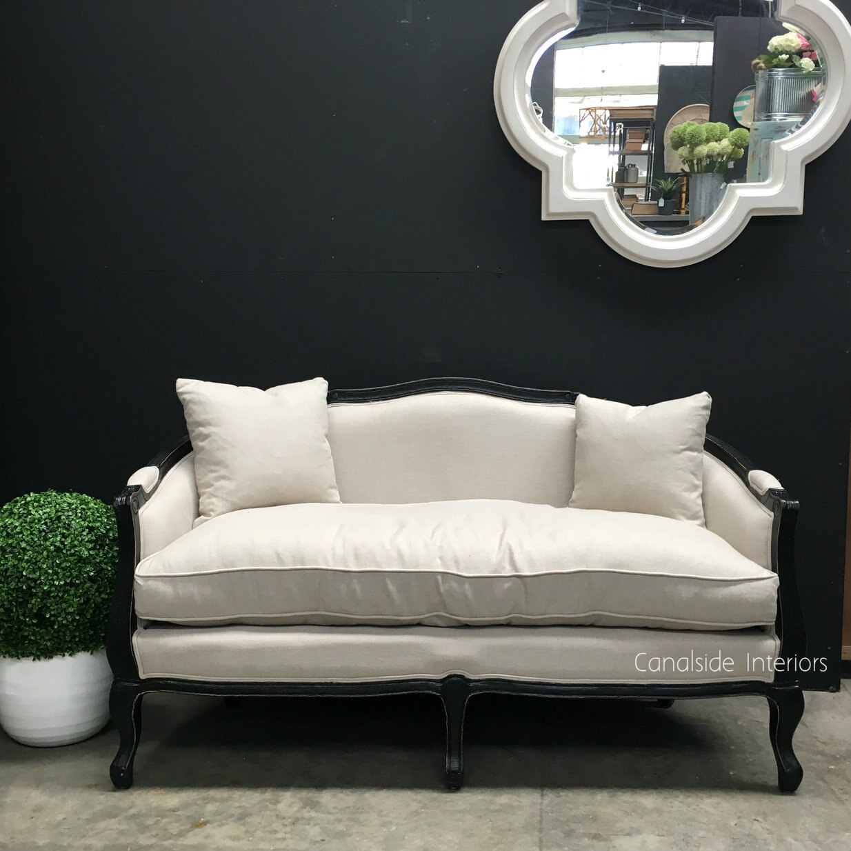 Full Size of Canape Sofa Arya 25 Seater Distressed Black With Cream Eck Blau Büffelleder Kolonialstil Big Braun Rund Alternatives Landhausstil Walter Knoll Mit Sofa Canape Sofa