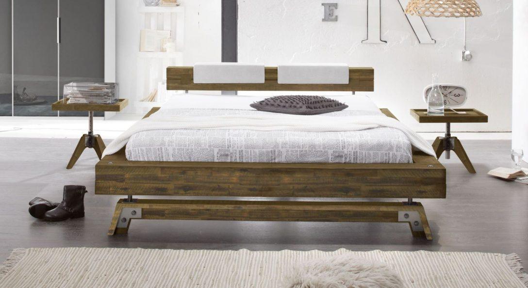 Large Size of Xxl Betten Bett Im Industrielook Aus Massivholz Kaufen Molina Oschmann Berlin Wohnwert Innocent Für übergewichtige Günstig 180x200 Kopfteile Nolte 120x200 Bett Xxl Betten