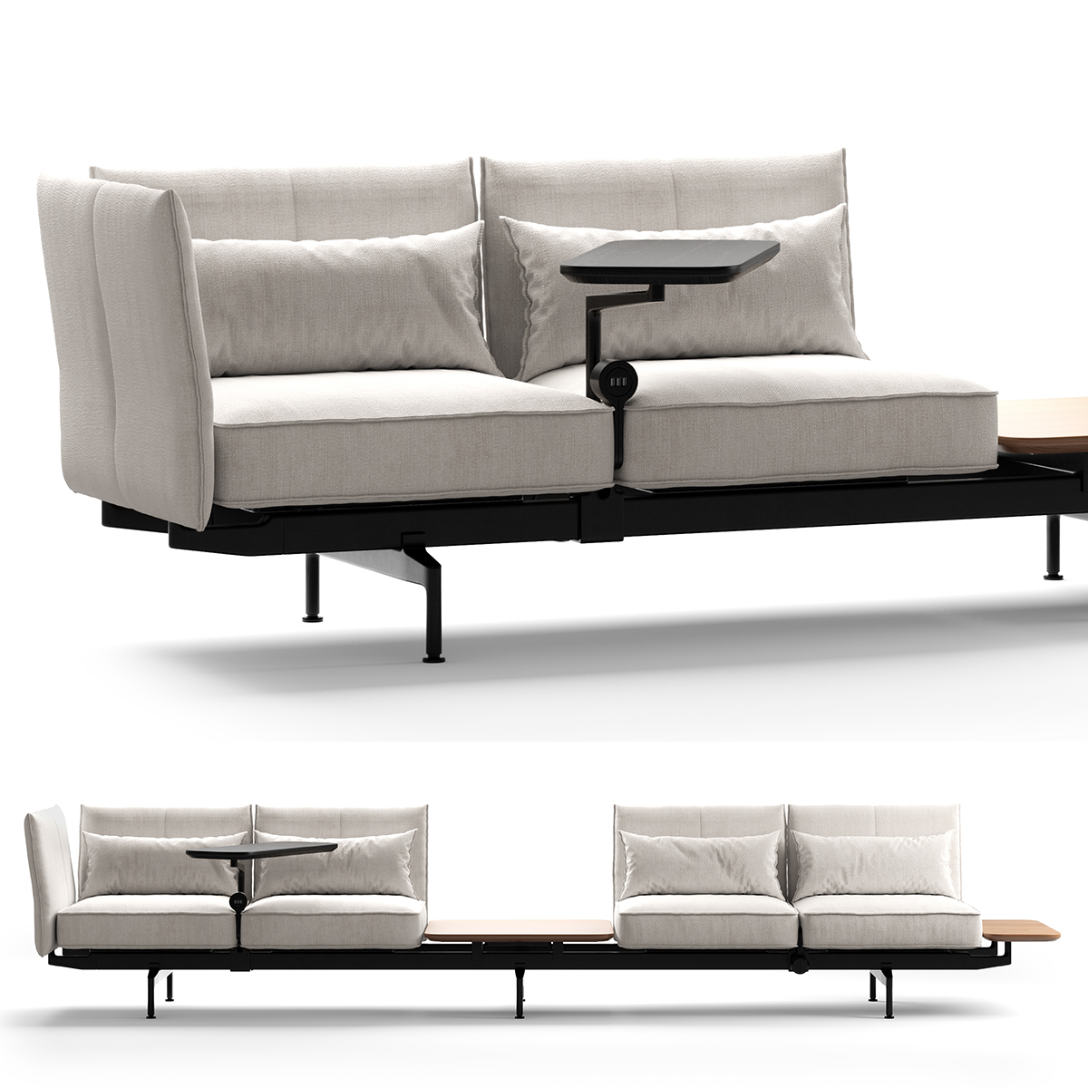 Full Size of Vitra Soft Modular Sofa Polder Plate Sofabord Noguchi Eames Marshmallow Cover Suita Sale 2 Seater Gebraucht Bed Work 3d Modell Turbosquid 1410047 Karup Sofa Vitra Sofa