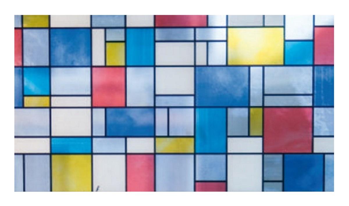 Full Size of Bunte Fensterfolie Mondriaan Glasdekorfolie Selbstklebend Sichtschutz Fenster Austauschen Kosten Regal Für Dachschräge Insektenschutz Sicherheitsfolie Fenster Klebefolie Für Fenster