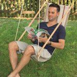 Hängesessel Garten Relaxsessel Loungemöbel Holz Mini Pool Lounge Möbel Klettergerüst Kugelleuchten Schwimmbecken Beistelltisch Schaukel Sonnenschutz Garten Hängesessel Garten