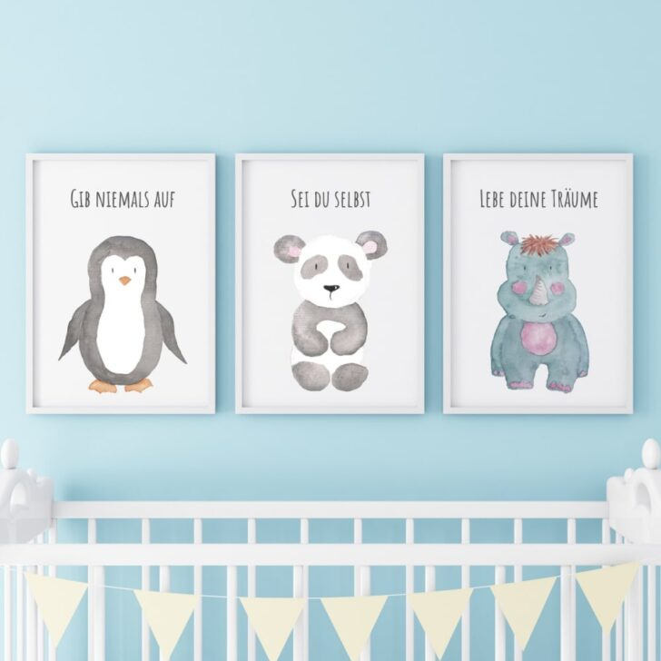 Medium Size of 3er Set Kinderzimmer Babyzimmer Poster Bilder Pinguin Laminat Für Bad Gardinen Wohnzimmer Sichtschutzfolien Fenster Folien Regal Kleidung Sonnenschutz Deko Kinderzimmer Bilder Für Kinderzimmer
