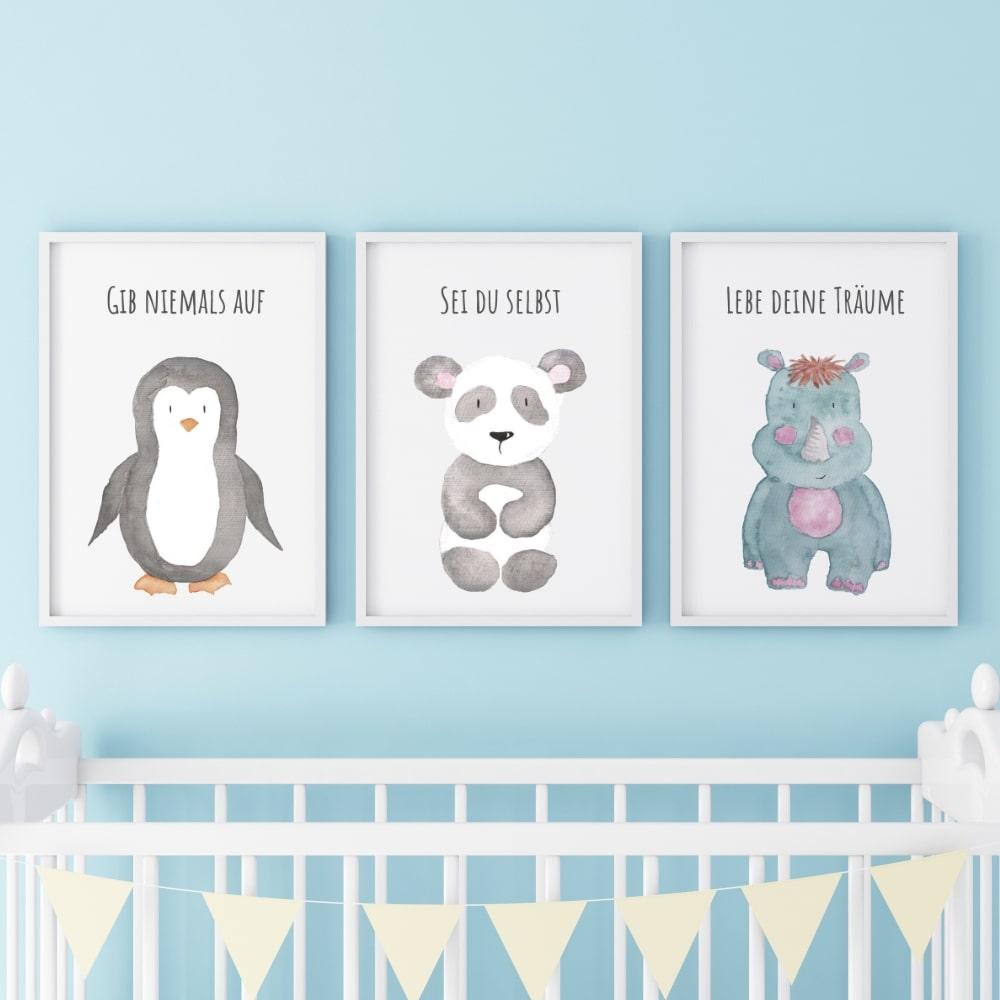 Full Size of 3er Set Kinderzimmer Babyzimmer Poster Bilder Pinguin Laminat Für Bad Gardinen Wohnzimmer Sichtschutzfolien Fenster Folien Regal Kleidung Sonnenschutz Deko Kinderzimmer Bilder Für Kinderzimmer