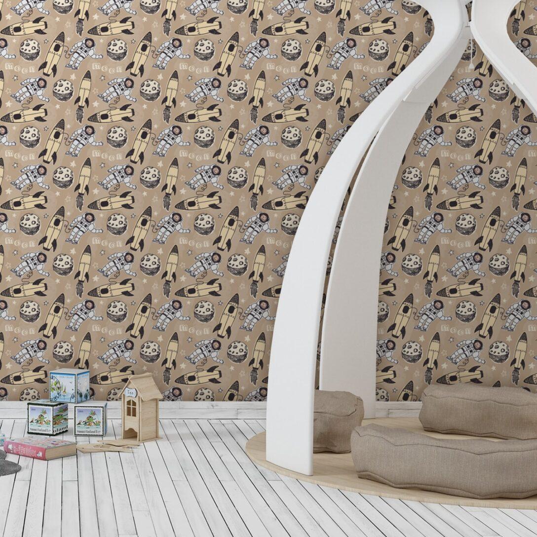 Large Size of Gelbe Weltraum Kinderzimmer Tapete Rocket Moon Tapeten Schlafzimmer Regale Regal Fototapeten Wohnzimmer Für Küche Weiß Ideen Sofa Die Kinderzimmer Tapeten Kinderzimmer