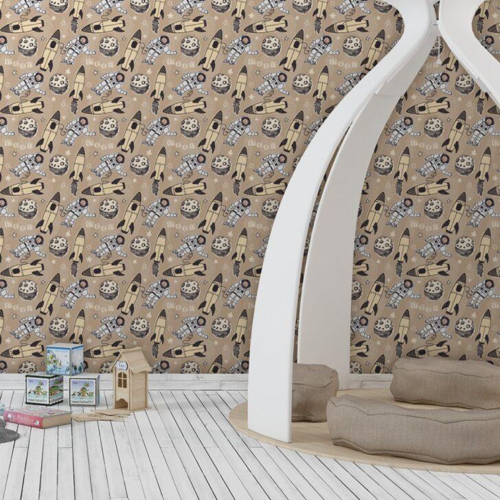 Medium Size of Gelbe Weltraum Kinderzimmer Tapete Rocket Moon Tapeten Schlafzimmer Regale Regal Fototapeten Wohnzimmer Für Küche Weiß Ideen Sofa Die Kinderzimmer Tapeten Kinderzimmer