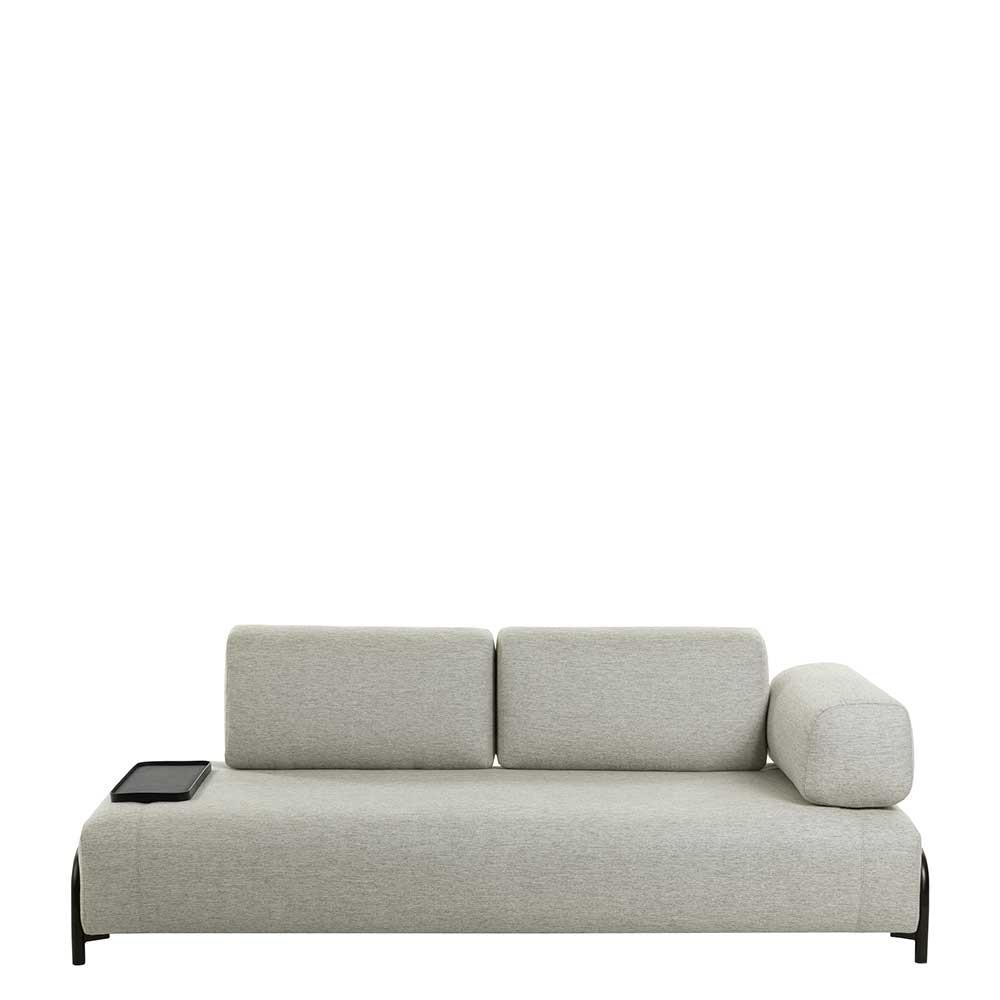 Full Size of Beigefarbene Zweisitzer Couch Mit Anstelltisch Einer Armlehne Sofa Led Copperfield Barock In L Form Bezug Lederpflege Hussen Für Big Recamiere Home Affaire Sofa Sofa Zweisitzer