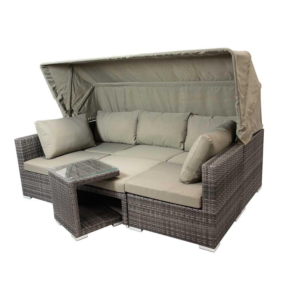 Polyrattan Sofa Set 2 Sitzer Balkon Lounge Tchibo Gartensofa Rattan Outdoor Couch Ausziehbar Garden Grau Garten Aus Mit Verdeck Miarizia Wohnende Türkis