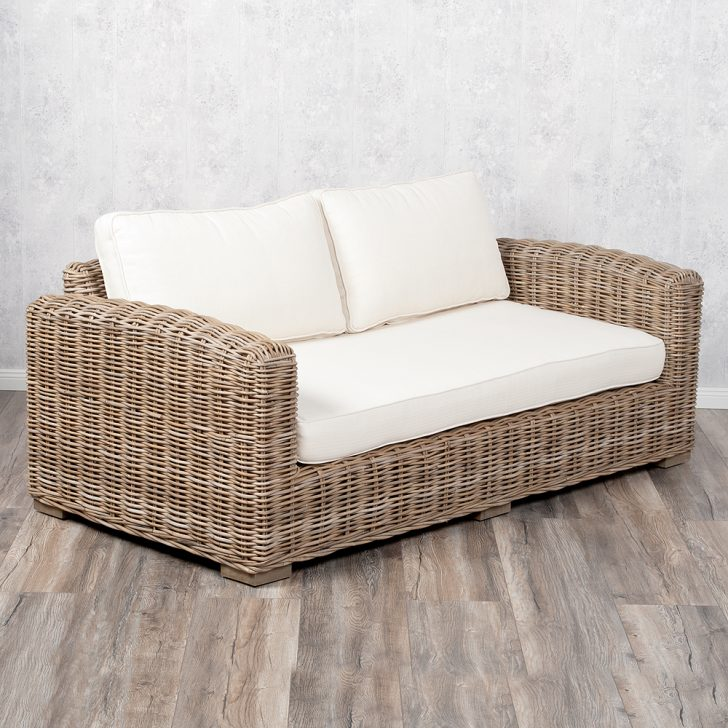 Medium Size of 2 Sitzer Sofa Lounge Living Rattan In Grey Ca L180cm 7256 Big Grau 3 Mit Relaxfunktion Hocker Xxl Günstig Büffelleder 2er Inhofer Liege Betten 140x200 Bett Sofa 2 Sitzer Sofa