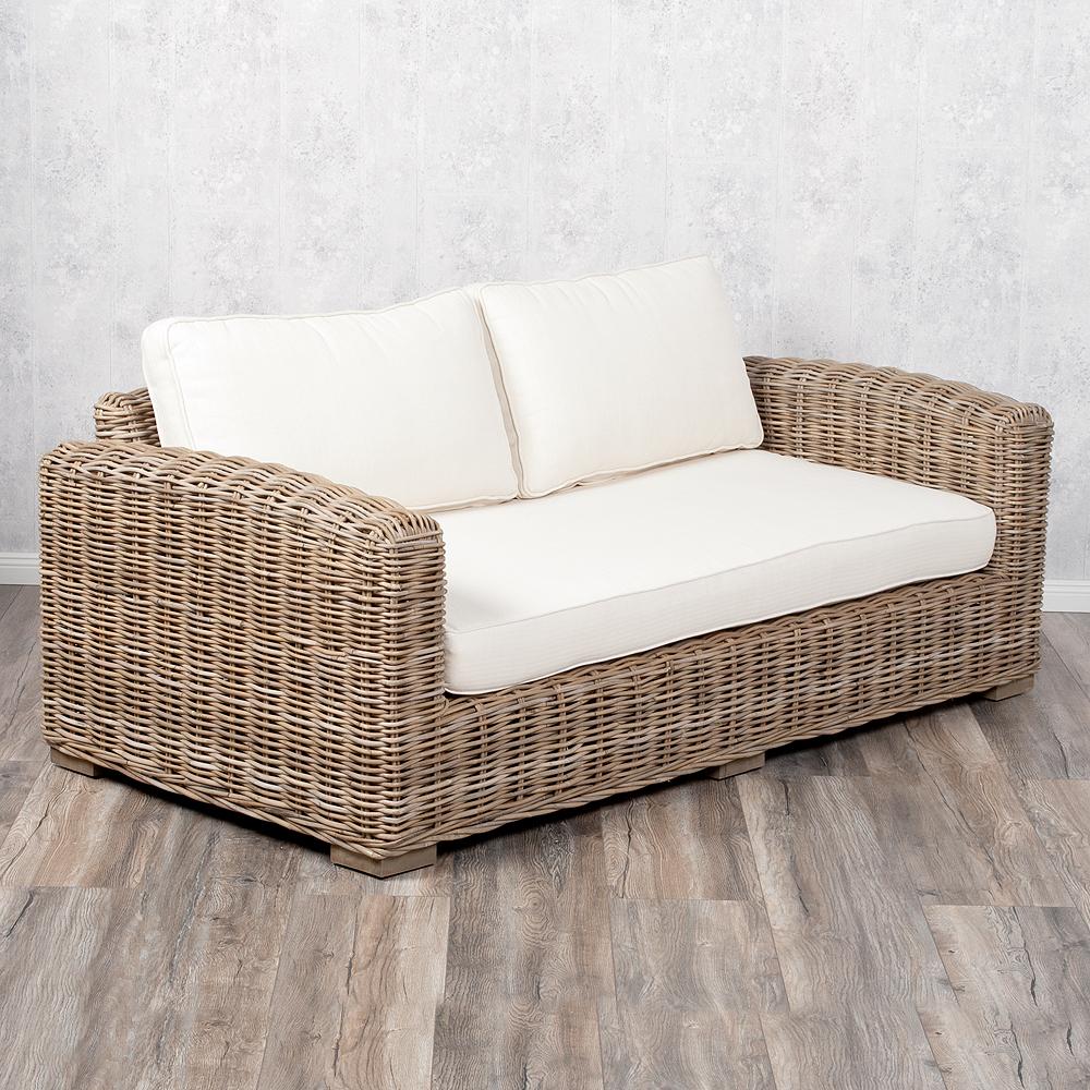 Full Size of 2 Sitzer Sofa Lounge Living Rattan In Grey Ca L180cm 7256 Big Grau 3 Mit Relaxfunktion Hocker Xxl Günstig Büffelleder 2er Inhofer Liege Betten 140x200 Bett Sofa 2 Sitzer Sofa