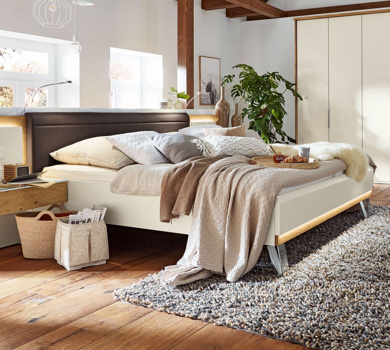 Full Size of Musterring Betten Schlafzimmer Saphira 4 Tlg In Wei Und Balkeneiche Schöne Weiß Poco überlänge Ebay 180x200 140x200 100x200 Balinesische Jugend Bett Musterring Betten