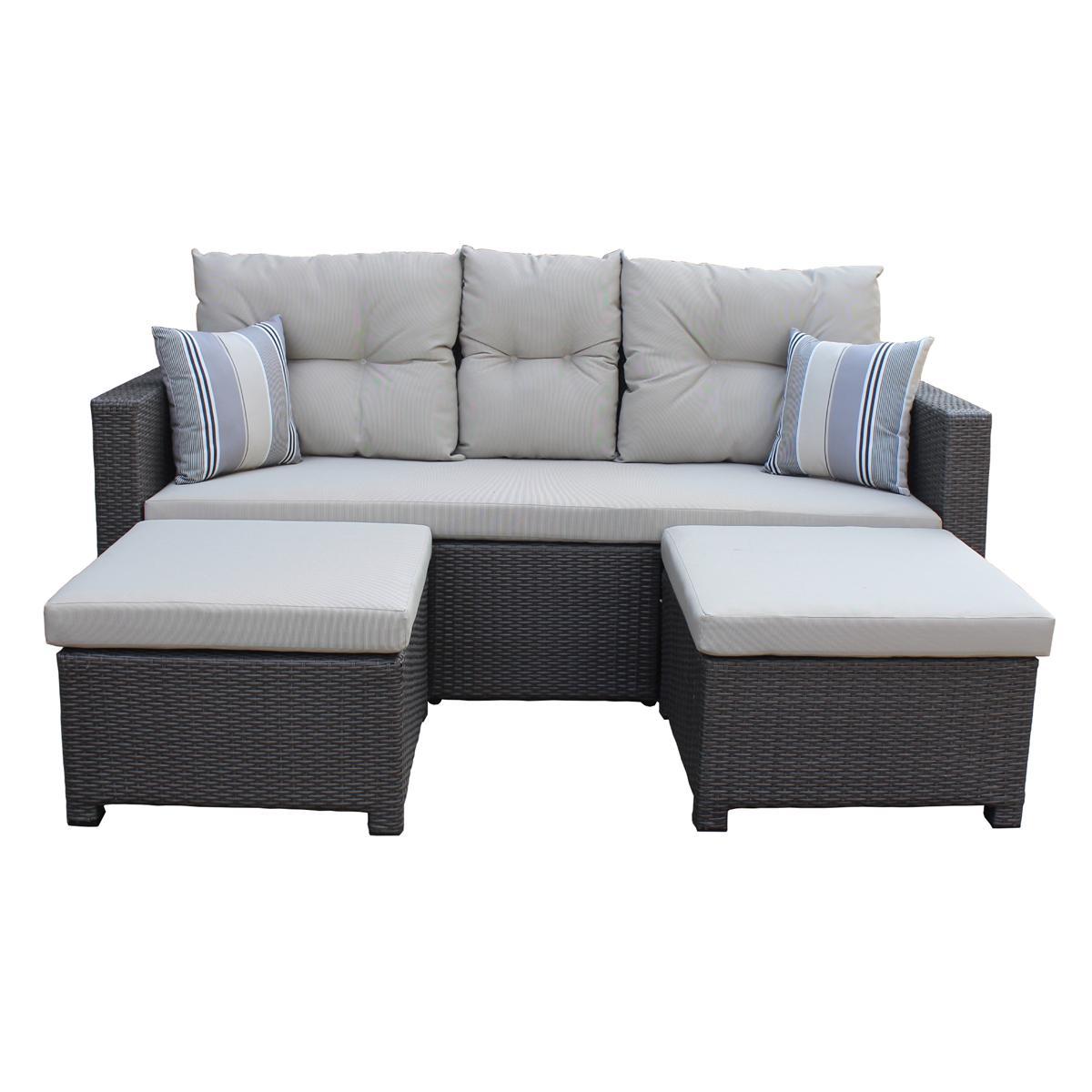 Full Size of Polyrattan Sofa Lounge Rattan Outdoor Tchibo 2 Sitzer Grau Couch Ausziehbar Set 2 Sitzer Balkon Gartensofa Garden Exterior Love Rotin Design Tom Tailor Sofa Polyrattan Sofa