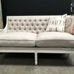 Canape Sofa Sofa Canape Sofa Pearson Distressed White With Cream Upholstery Hocker Lederpflege Barock Boxspring überwurf L Form Weiches Grau Weiß Rund Stilecht Himolla Stoff