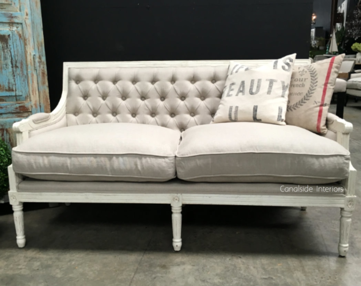 Medium Size of Canape Sofa Pearson Distressed White With Cream Upholstery Hocker Lederpflege Barock Boxspring überwurf L Form Weiches Grau Weiß Rund Stilecht Himolla Stoff Sofa Canape Sofa