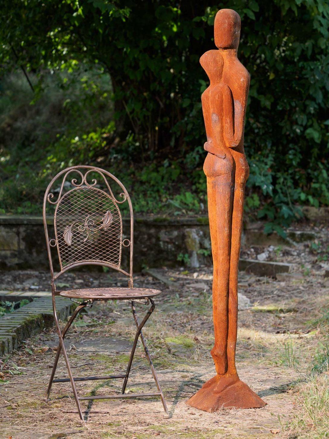 Large Size of Garten Skulpturen Gartenskulpturen Aus Rostigem Eisen Stein Modern Edelstahl Skulptur Beton Metall Berlin Steinguss Statue Liebespaar Moderne Kunst Paar 160cm Garten Garten Skulpturen