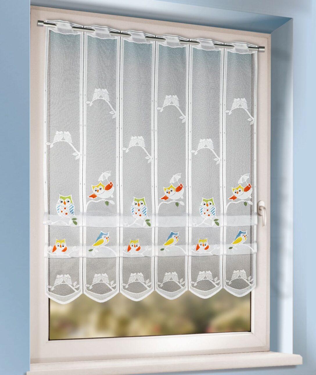 Large Size of Raffrollo Kinderzimmer Mit Buntem Eulenmuster Kaufen Gardinen Outlet Küche Regal Regale Sofa Weiß Kinderzimmer Raffrollo Kinderzimmer
