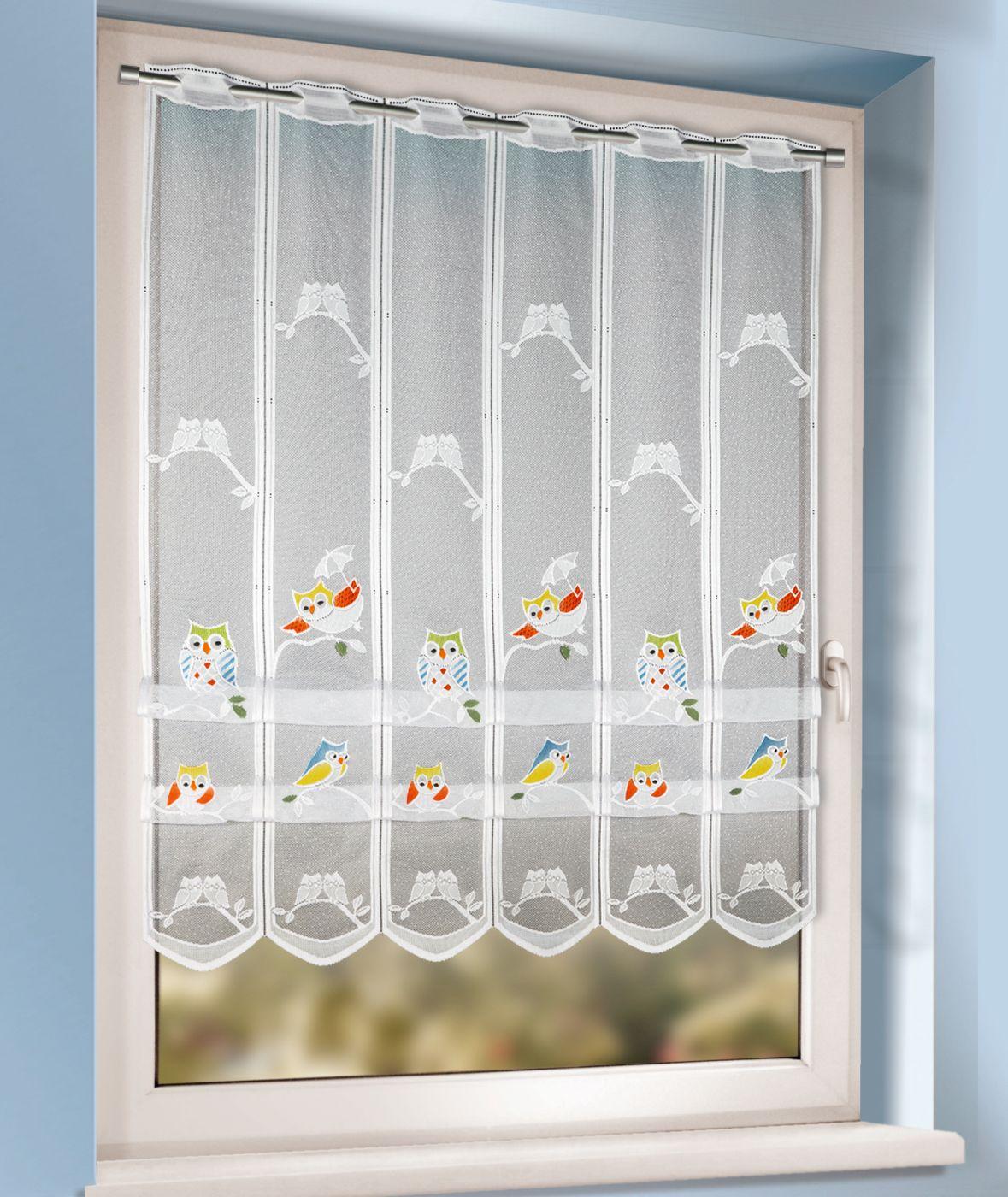 Full Size of Raffrollo Kinderzimmer Mit Buntem Eulenmuster Kaufen Gardinen Outlet Küche Regal Regale Sofa Weiß Kinderzimmer Raffrollo Kinderzimmer