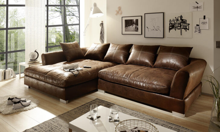 Medium Size of Big Sofa L Form Wildlederoptik Braun Hannah 9855 Ra Kolonialstil Höffner Ausziehbar Weiches Mit Holzfüßen Kissen Chesterfield Grau Ikea Schlaffunktion Led 3 Sofa Big Sofa Braun