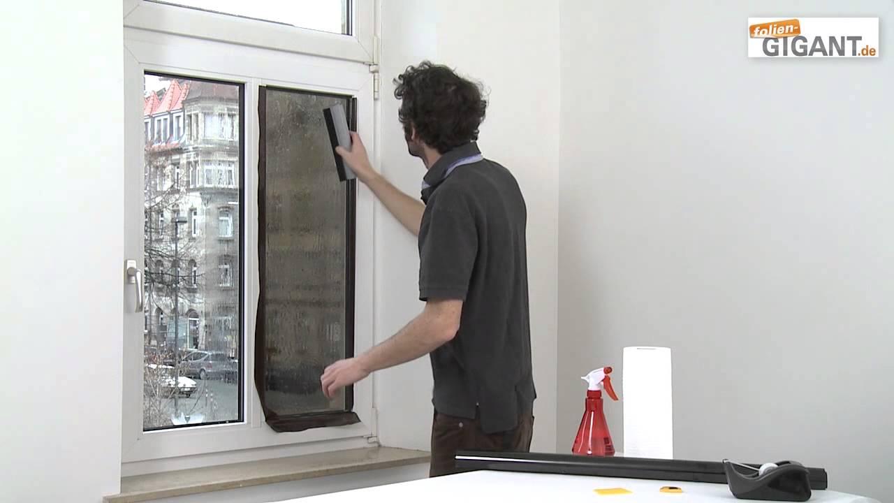 Full Size of Sonnenschutzfolie Fenster Montage Einer Folien Gigantde Youtube Sonnenschutz Außen Kbe Sichtschutzfolie Einseitig Durchsichtig Weru Preise Mit Lüftung Fenster Sonnenschutzfolie Fenster