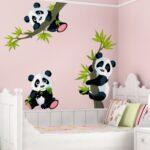 Wandaufkleber Kinderzimmer Kinderzimmer Wandaufkleber Kinderzimmer Wandtattoo Pandabren Set Regal Sofa Weiß Regale