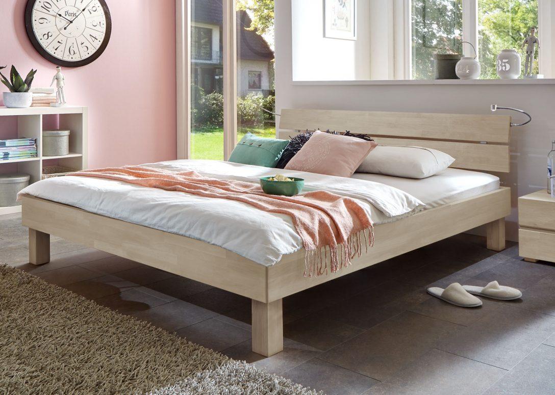 Large Size of Schickes Holzbett Madrid In Buche Online Kaufen Bettende Bett Www.betten.de