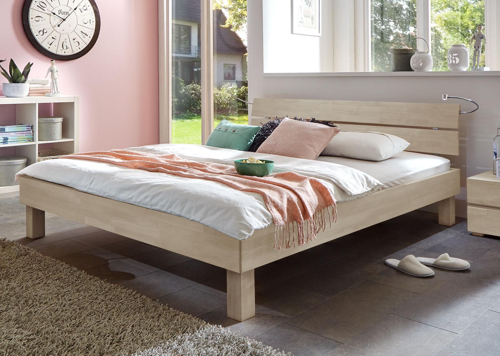 Full Size of Schickes Holzbett Madrid In Buche Online Kaufen Bettende Bett Www.betten.de