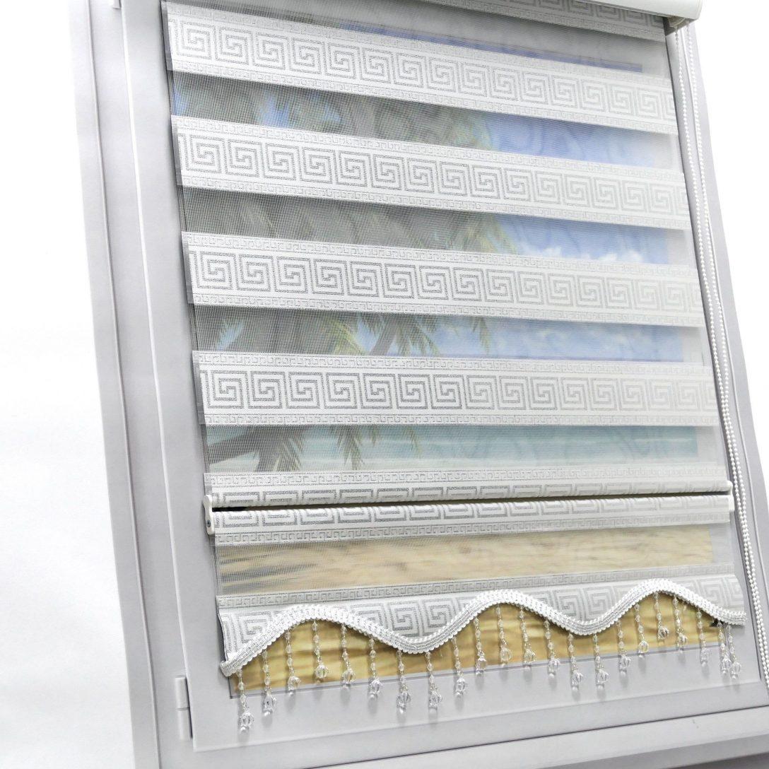Large Size of Fenster Rollos Brillant Doppelrollo Versace Wei Silber Verdunkelungs Duorollo Einbruchsicher Einbauen Holz Alu Preise Rc3 Sonnenschutzfolie Aluminium Fenster Fenster Rollos