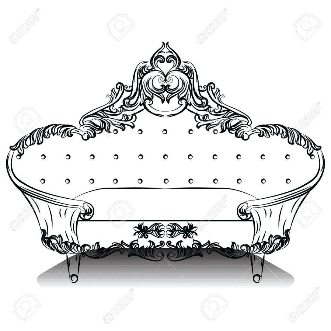 Large Size of Luxury Barock Sofa Mit Luxurisen Verzierungen Elegante Groß Big Grau Rotes 2 Sitzer Relaxfunktion Marken Chesterfield Hussen Rattan überwurf Sofa Barock Sofa