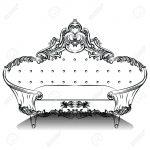 Barock Sofa Sofa Luxury Barock Sofa Mit Luxurisen Verzierungen Elegante Groß Big Grau Rotes 2 Sitzer Relaxfunktion Marken Chesterfield Hussen Rattan überwurf